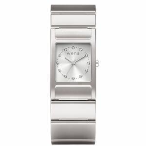 ソニー WN-WT11S ウェアラブル端末 「wena wrist(ウェナ リスト) Three Hands Square Silver」