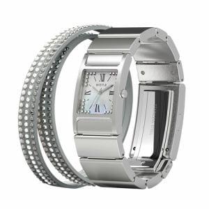 ソニー WN-WT12S ウェアラブル端末 「wena wrist(ウェナ リスト) Three Hands Square Silver Crystal Edition」