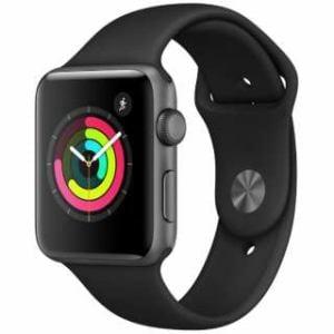 アップル(Apple) MTF32J/A Apple Watch Series 3(GPSモデル)- 42mmスペースグレイアルミニウムケースとブラックスポーツバンド
