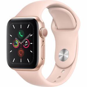 アップル(Apple) MWV72J/A Apple Watch Series 5(GPSモデル)- 40mmゴールドアルミニウムケースとピンクサンドスポーツバンド - S/M & M/L