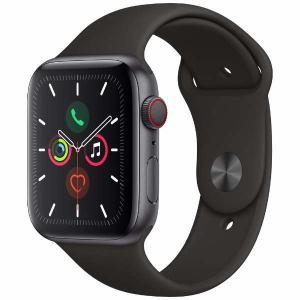アップル(Apple) MWWE2J/A Apple Watch Series 5(GPS + Cellularモデル)- 44mmスペースグレイアルミニウムケースとブラックスポーツバンド - S/M & M/L