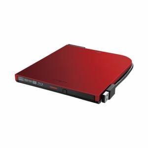 バッファロー BRXL-PT6U2V-RDD BDXL対応 USB2.0用 ポータブルブルーレイドライブ スリムタイプ レッド