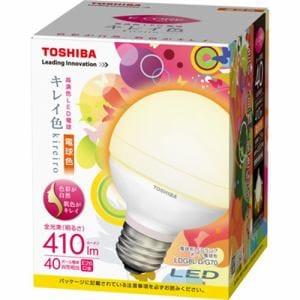 TOSHIBA LED電球E-CORE(ボール電球形・全光束410lm/電球色・口金E26) LDG8L-D/G70