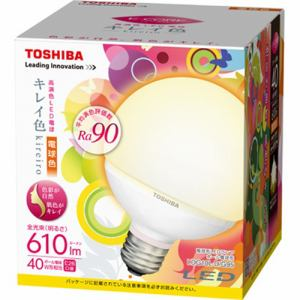 TOSHIBA kireiro(キレイ色)電球形LEDランプ(ボール電球形・電球色・610lm・口金E26) LDG10L-D/G95