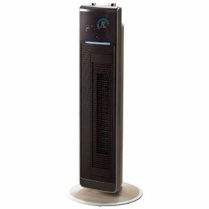 コイズミ KHF-1270-T リモコン・送風機能付ファンヒーター 「ホット&クールプレミアムタワーファン」(1200W) ブラウン