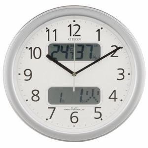 リズム時計 シチズン 電波掛け時計 ネムリーナカレンダーM01 シルバーメタリック 4FYA01-019