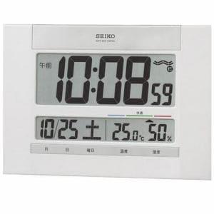 セイコー SQ429W 掛け時計 電波クロック 掛置兼用モデル