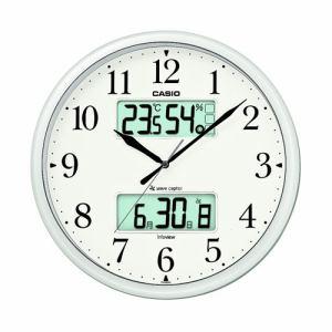 カシオ  ITM-660NJ-8JF  電波時計(壁掛け時計)  生活環境お知らせ(湿度計 / 温度計)タイプ