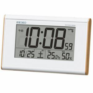 セイコークロック 目ざまし時計 電波クロック 温湿度表示 SQ771B