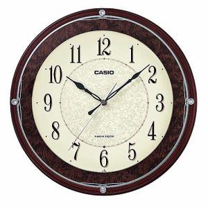 カシオ IQ-1008J-5JF 壁掛電波時計 ブラウン 秒針停止機能付
