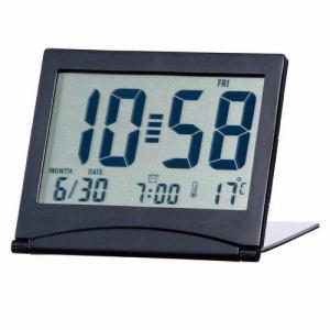 アデッソ KH-01 目覚し時計 デジタル表示 電子音アラーム デュアルタイム スリムサイズ