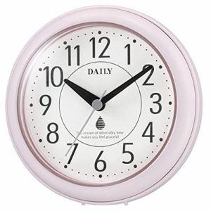 リズム時計 4KG711DN13 アクアパークDN 防滴・防塵型掛置兼用時計 ピンク 付属スタンド付
