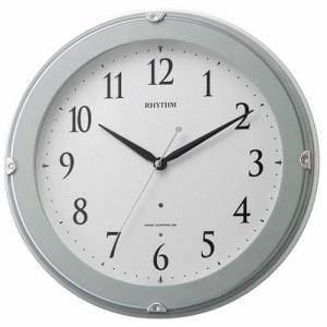 リズム時計 8MYA23SR04 ピュアライトマーロン 電波掛時計
