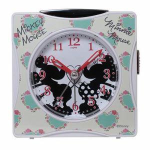 クレファー DIA-5547-13MM 目覚し時計 アマログ表示 スヌーズ 連続秒針