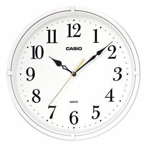 カシオ IQ-88-7JF 壁掛け時計 インテリアクロック クオーツ 流れるように動く連続運針のスムーズ秒針 ホワイト