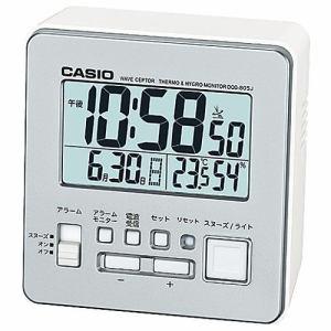 カシオ DQD-805J-8JF 置時計 シルバー スヌーズ機能 温度・湿度計付 デジタル電波モデル