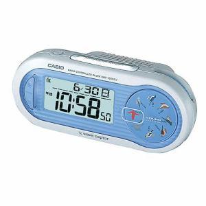 カシオ SQD-1000SJ-2JF 置時計 ブルー 電波アラームクロック
