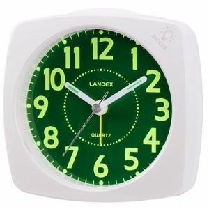 ランデックス YT5220WH アナログ目覚し時計 ポール・スタァLC 連続秒針 LEDライト付