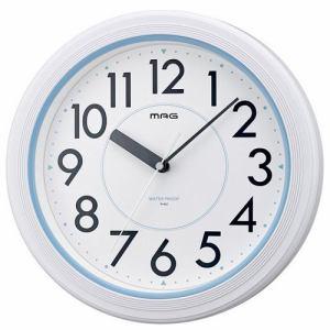 ノア精密 W-662WH-Z MAG アクアガード 防水掛け時計 ホワイト