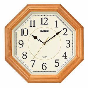 カシオ IQ-123S-7JF 掛時計 木枠(八角形) スムーズ秒針 シンプルデザインモデル