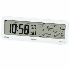 カシオ DWS-200J-7JF 電波置時計 デジタル表示 モバイルリンク機能 音声案内付天気情報お知らせクロック