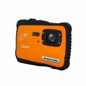 ジョワイユ JOY500C3OR 12 MEGA PIXE 防水 FULLHD CMOS デジタルカメラ オレンジ