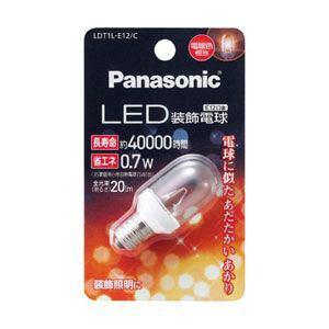 Panasonic LED装飾電球 T形タイプ クリアタイプ 0.7W LDT1LE12C