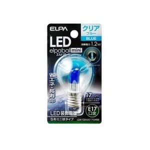 ELPA LDA1CB-G-E17-G458 LED電球S形E17 青色