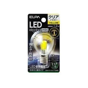 ELPA LDA1CY-G-E17-G459 LED電球S形E17 黄色