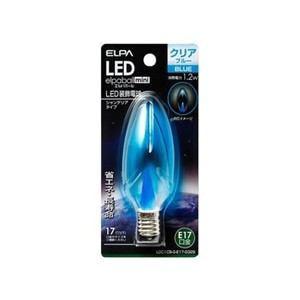 ELPA LDC1CB-G-E17-G329 LEDシャンデリア球E17 青色