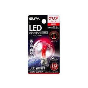 ELPA LDG1CR-G-E12-G237 LED電球G30E12 赤色
