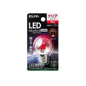 ELPA LDG1CR-G-E17-G247 LED電球G30E17 赤色