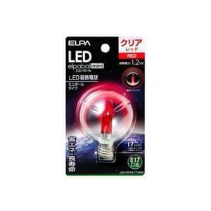 ELPA LDG1CR-G-E17-G262 LED電球G50E17 赤色