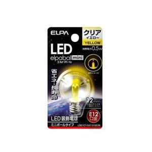 ELPA LDG1CY-G-E12-G239 LED電球G30E12 黄色