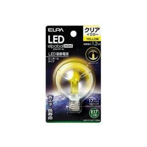 ELPA LDG1CY-G-E17-G264 LED電球G50E17 黄色