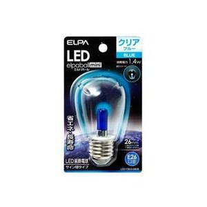 ELPA LDS1CB-G-G908 LEDサイン球E26 青色