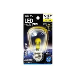 ELPA LDS1CY-G-G909 LEDサイン球E26 黄色