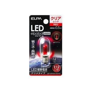 ELPA LDT1CR-G-E12-G107 LED電球ナツメE12 赤色