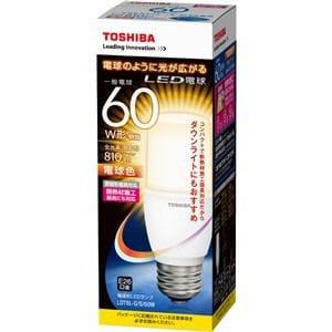 TOSHIBA LED電球 電球色相当 E26口金 E-CORE(イー・コア) 810lm 熱材施工器具対応 LDT8L-G/S/60W