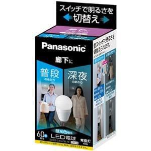 Panasonic LED電球 明るさ切替えタイプ(廊下向け) 9.0W(昼光色相当) LDA9DGKURKW