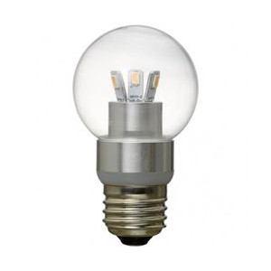 ヤザワ LED電球 ボール電球形 クリア 40W相当 全光束400lm 電球色 直径70mm E26口金 LDG5LG70