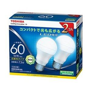 東芝 調光器非対応LED電球(一般電球形・全光束810lm/昼白色・口金E26) 2個入り LDA7N-G-K/60W-2P
