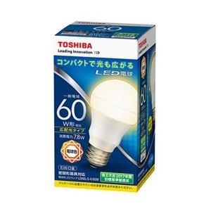 東芝 調光器非対応LED電球(一般電球形・全光束810lm/電球色・口金E26) LDA8L-G-K/60W