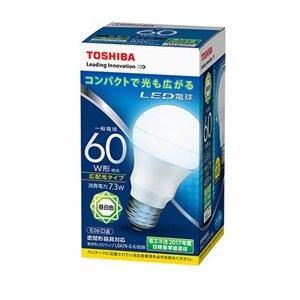 東芝 調光器非対応LED電球(一般電球形・全光束810lm/昼白色・口金E26) LDA7N-G-K/60W