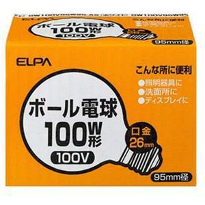 ELPA G95ボール球 100W GW100V95W95-AS