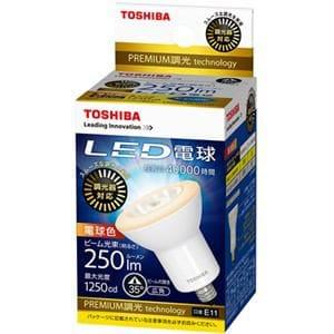 東芝 LED電球 ハロゲン球形 E11口金 電球色 250lm 調光器対応 LDR7L-W-E11/D