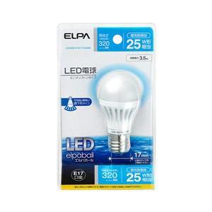 ELPA LED電球 ミニクリプトン球型 25W形 E17 昼光色 LDA4D-H-E17-G406