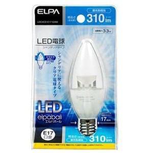 ELPA LED電球 シャンデリア形 E17 昼光色 LDC4CD-E17-G350