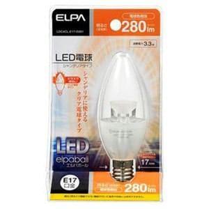ELPA LED電球 シャンデリア形 E17 電球色 LDC4CL-E17-G351