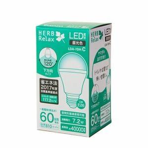 HERBRelax LDA-7DH-C LED電球 60WE26 昼光色 直下型
